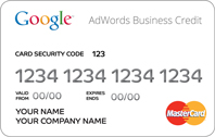 google adwords business credit card