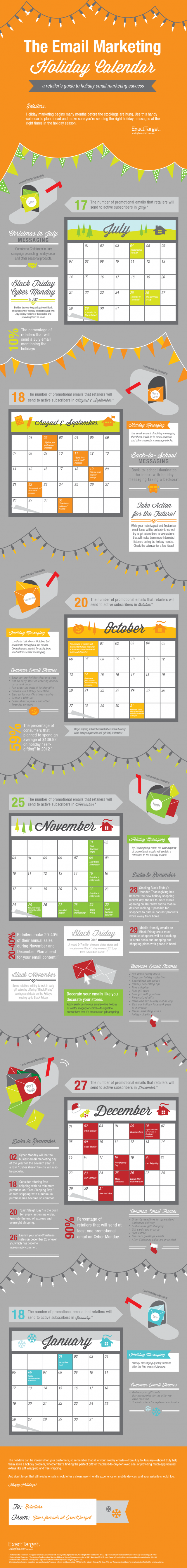 email marketing holiday schedule infographoc