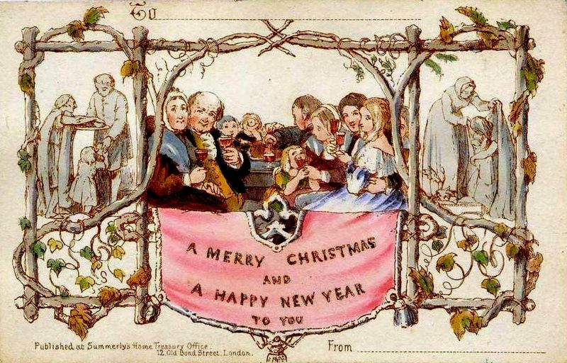 history of the first christmas card