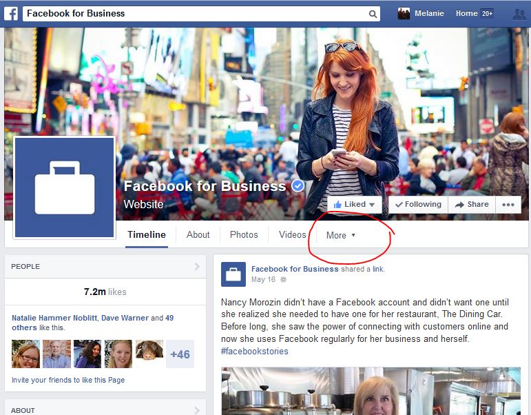 Facebook for Business Page - Figure 2