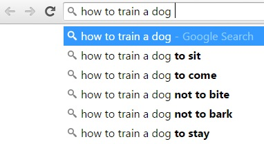 how to use google suggestions example #1