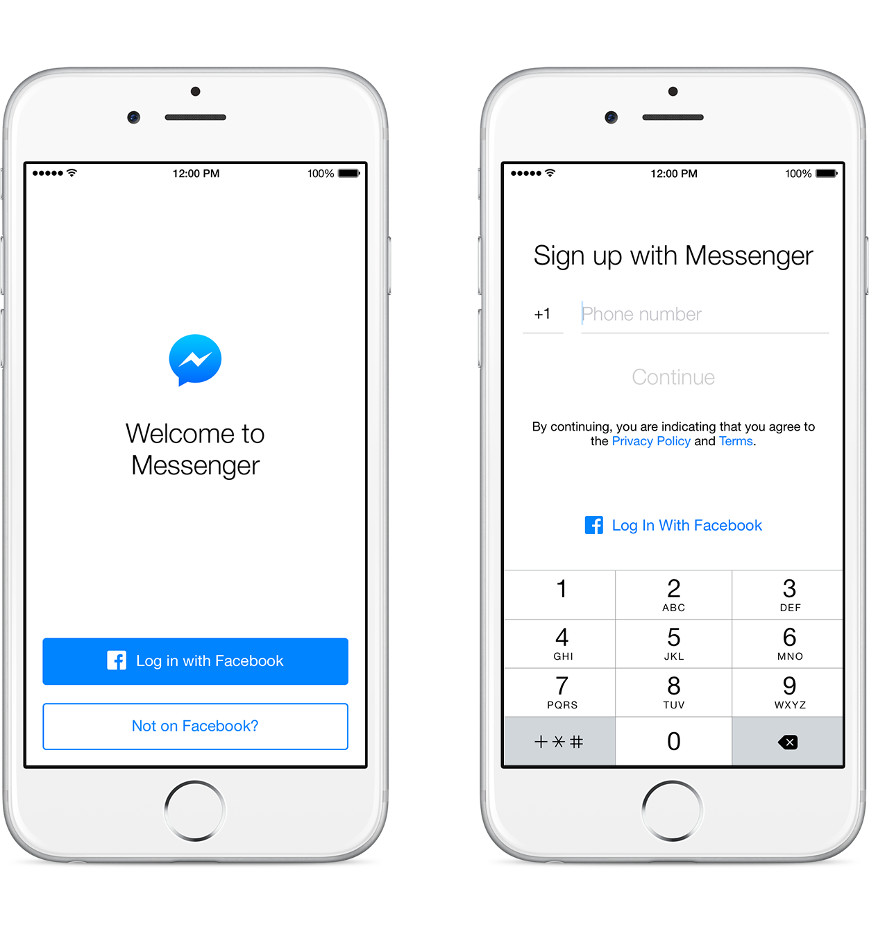 Use Messenger without Facebook account