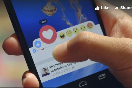 "Facebook launches ""Reactions"" button"