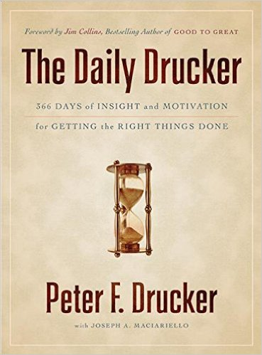 the daily drucker, a life of giving