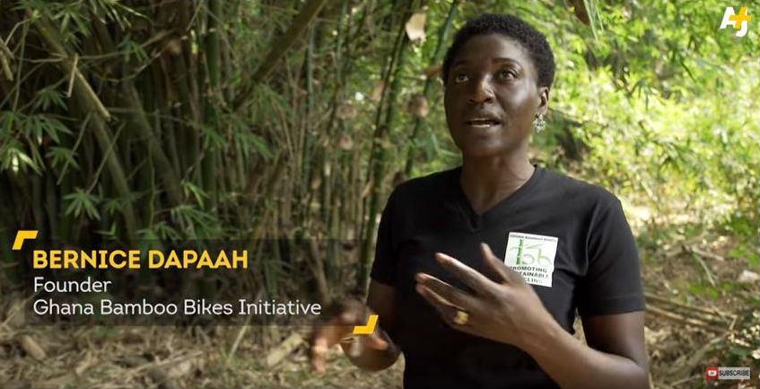 Bernice Dapaah, bikes made out of bamboo