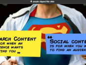 search content vs. social content