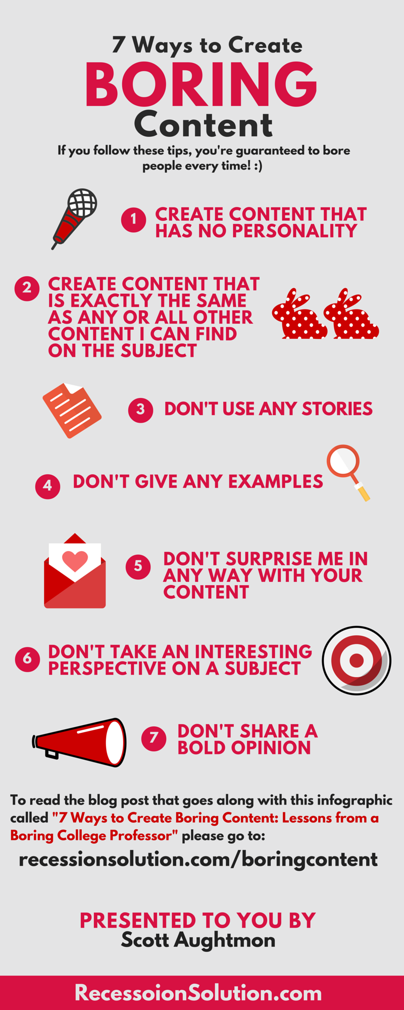 7 Proven Ways to Bore People with Your Content