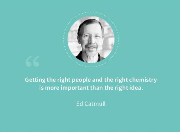 ed catmull quote about building teams