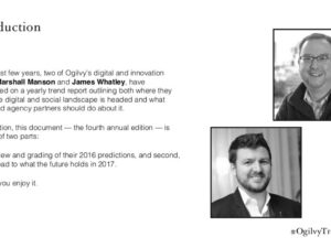 Ogilvy and Mather Key Trends 2017 Report