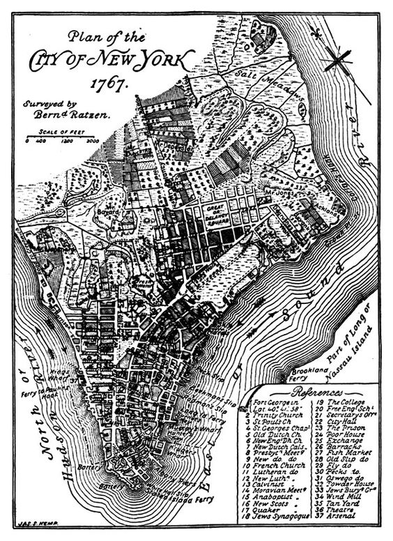 the early plans for new york city