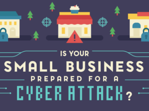 how to protect your small business from cyber attacks infographic