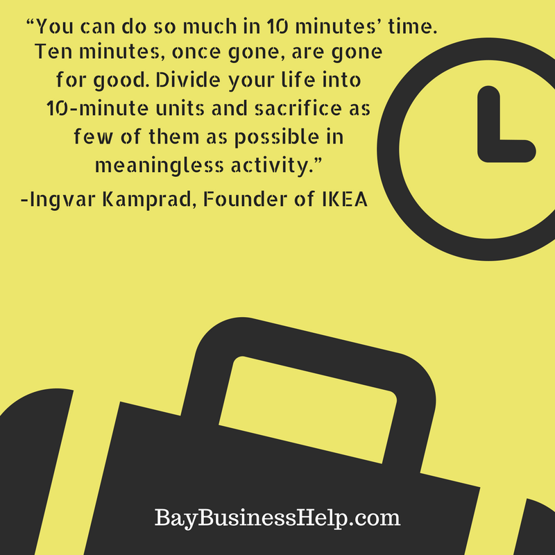 IKEA Founder on the Value of 10 Minutes (Motivational